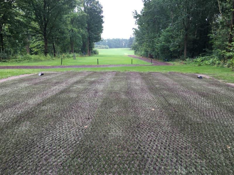Golfbane inden pålægning af hybridgræs Green Hybrid 32+